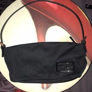 Authentic Fendi Small Handbag w Leather Straps